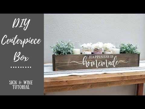 DIY Wood Centerpiece Box Tutorial