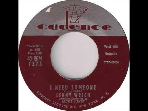 Lenny Welch - I Need Someone 1959