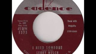 Lenny Welch - I Need Someone 1959