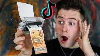 Geld selber DRUCKEN? Ich teste VIRALE TikTok Lifehacks..! (zum nachmachen)