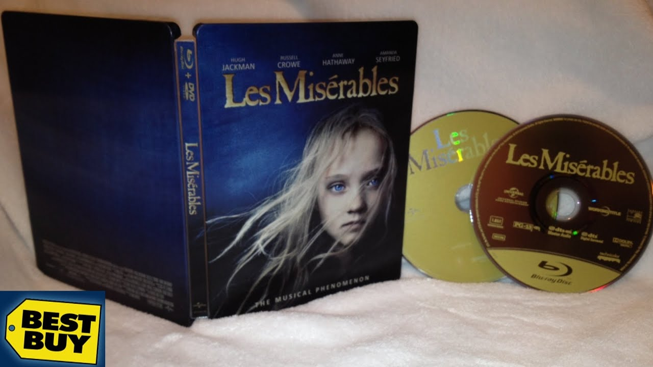 Les Mis 233 Rables Best Buy Exclusive Steelbook Blu Ray Dvd