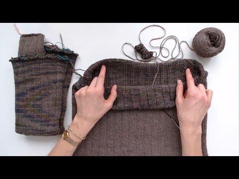 Вязание спицами по кругу СНИЗУ | Секреты моделирования бесшовного плечевого изделия