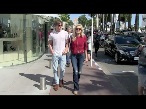 Singer Pixie Lott along with her boyfriend Oliver Cheshire in Cannes