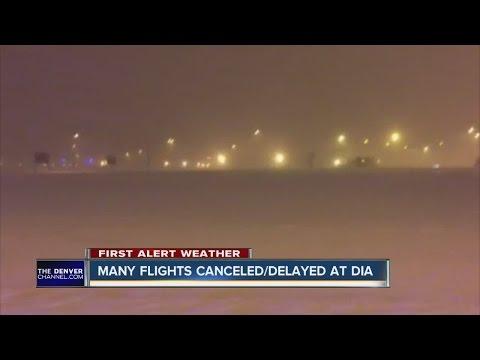 Flights canceled at Denver International Airport