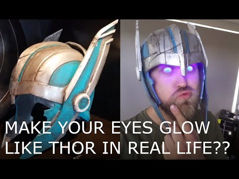 DIY Thor helmet makes your eyes glow