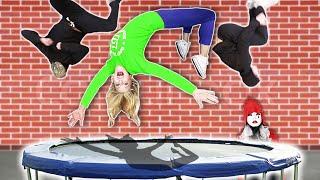 BEST Flip Wins $10,000! (Ninja Training for BATTLE ROYALE w/ Hacker)   Rebecca Zamolo