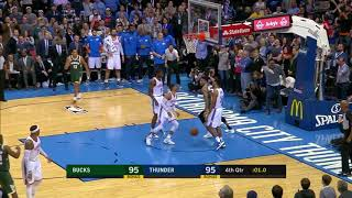 Bucks' Giannis Antetokounmpo Appears to Step Out of Bounds During Game-Winning Dunk vs. Thunder
