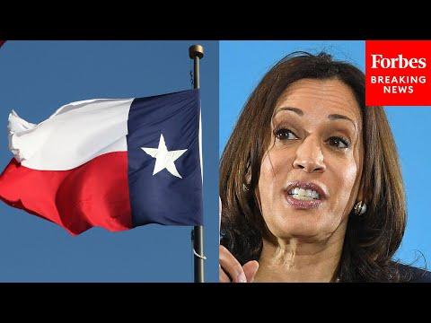 Deep State Flunky Kamala Harris Praises 'Courageous' Texas Democrats Who Fled State To Pre