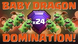 Clash of Clans || Baby Dragon Domination || Legends League Attacks