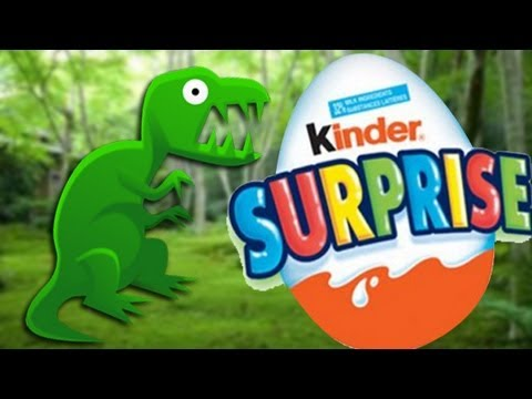 Surprise Eggs Unboxing Kinder Surprise Dinosaur toy. Huevo kinder sorpresa con dinosaurio de juguete Travel Video