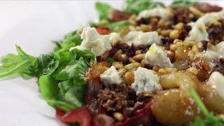 Как приготовить cалат с жареной грушей и рукколой