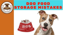 How to Store Dog Food Properly!
