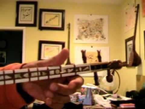 Simple Song in Dastgah Nava, fingering notation یک آهنگ ساده در دستگاه نوا