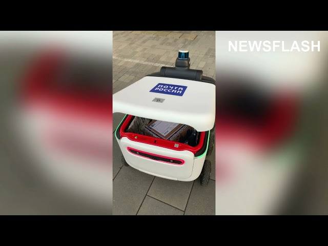 Russian Post Launches Fleet Of Futuristic AI Robots That Collect And Deliver Parcels Across Moscow