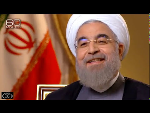 Iranian President Hassan Rouhani speaks with Steve Kroft