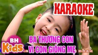 [KARAOKE] Cả Nhà Thương Nhau | Nhạc Thiếu Nhi Karaoke cho bé