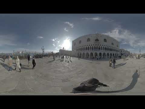 Wandering in Venice Pier by Doge Palace – 360 video