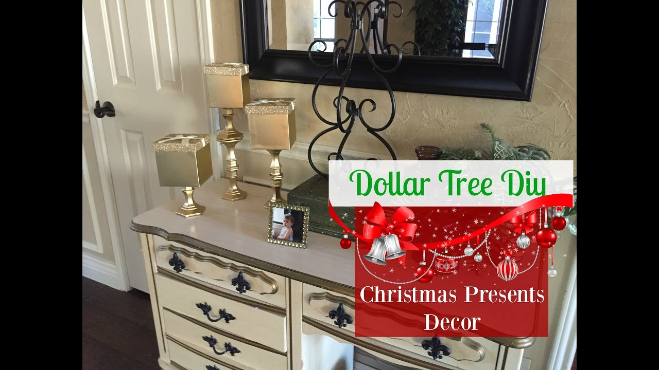 Dollar tree diy christmas presents decor 2016 youtube for Bathroom decor dollar tree