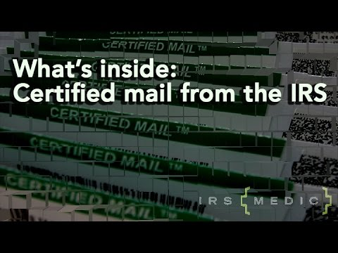 Great. There's certified mail for you....from the IRS.