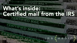 certified mail from the IRS