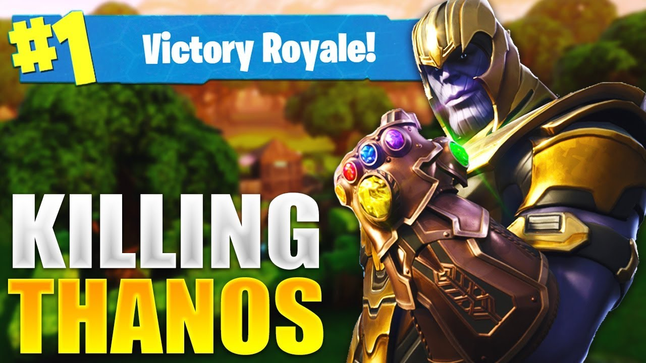Killing Thanos In A 1v1 Winning The Game Fortnite