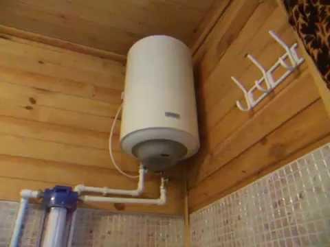 Водопровод и водонагреватель на даче в Орехово-Зуево