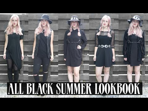 ALL BLACK SUMMER LOOKBOOK | Rocknroller
