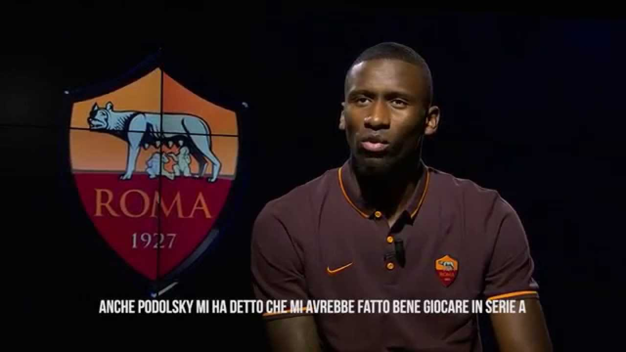 Antonio Rüdiger: The first AS Roma interview - YouTube