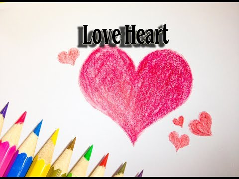 How to Draw Love Heart Clipart - Love Heart Drawing - SLD