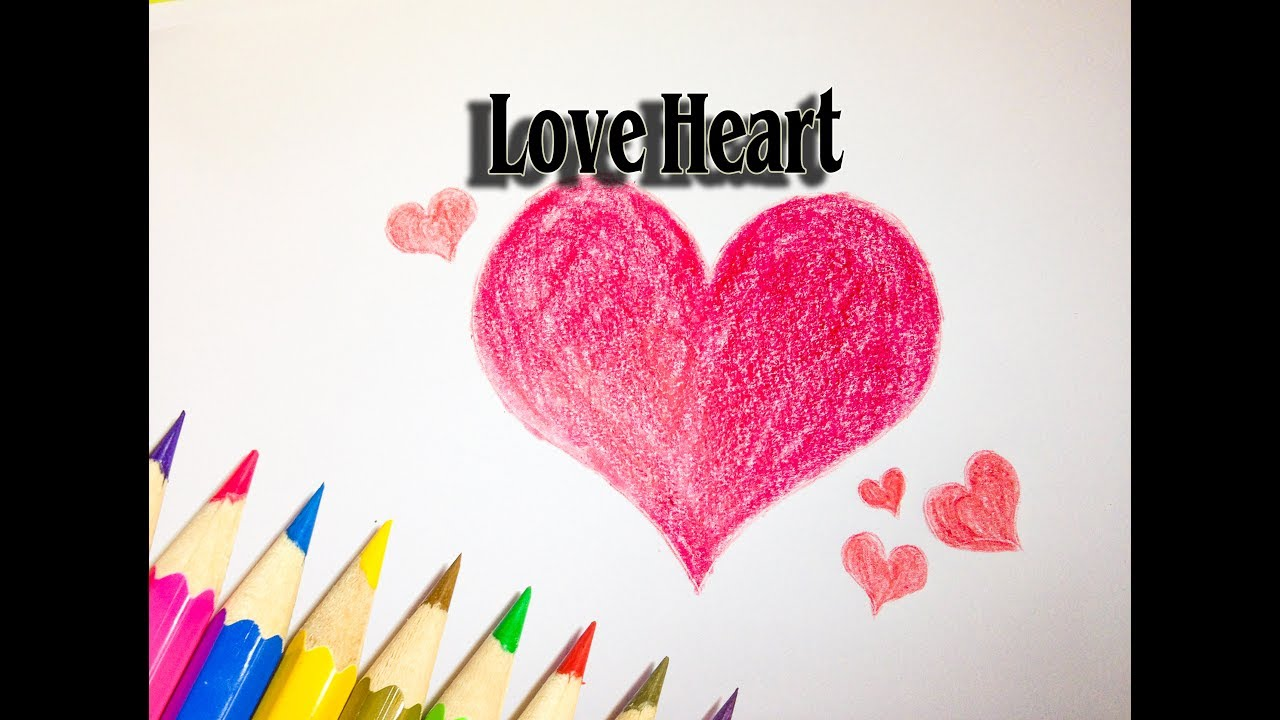 how to draw love heart clipart love heart drawing sld [ 1280 x 720 Pixel ]