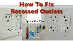 How to Fix Bad Recessed Outlets
