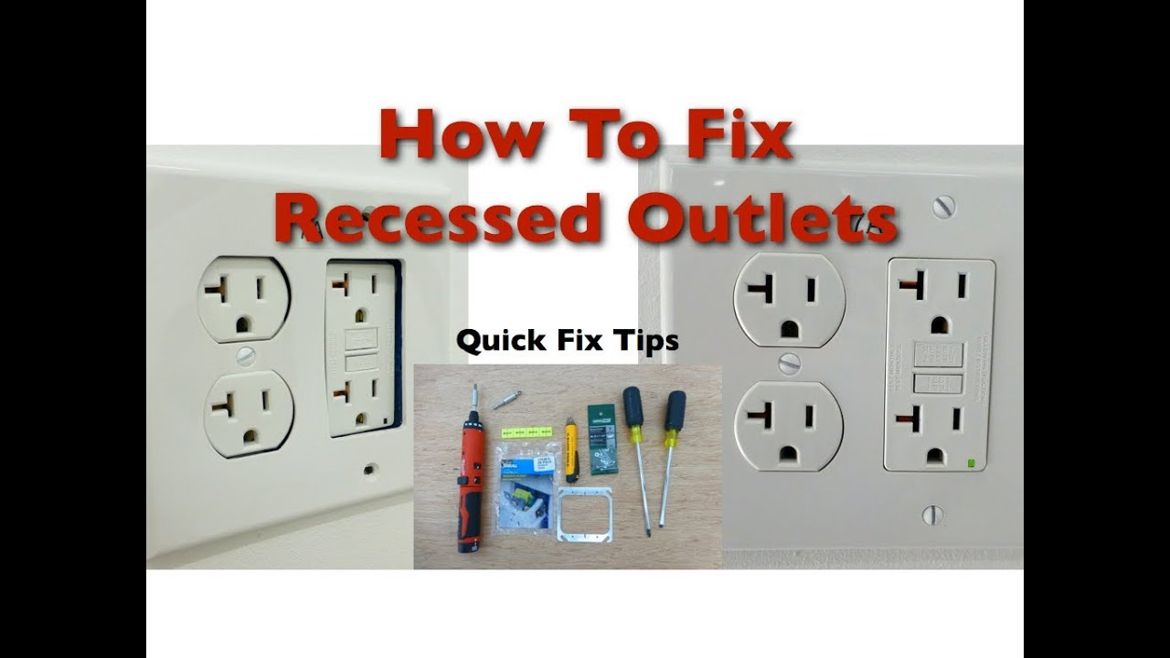 How to Fix Bad Recessed Outlets - YouTube