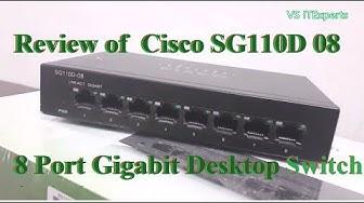 Cisco SG110D-08 | 8 Port Gigabit Desktop Switch Review