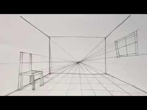 كيفية رسم منظور هندسي لغرفة من نقطة واحدة Youtube