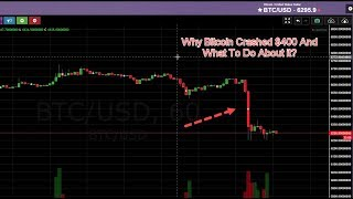 Why Bitcoin Crashed $400 And What To Do About It??