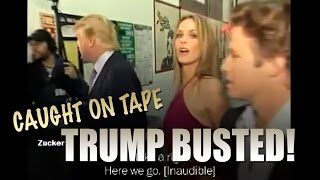BUSTED! Trump & Billy Bush lewd Conversation of Groping women caught on Tape - It's Over fo