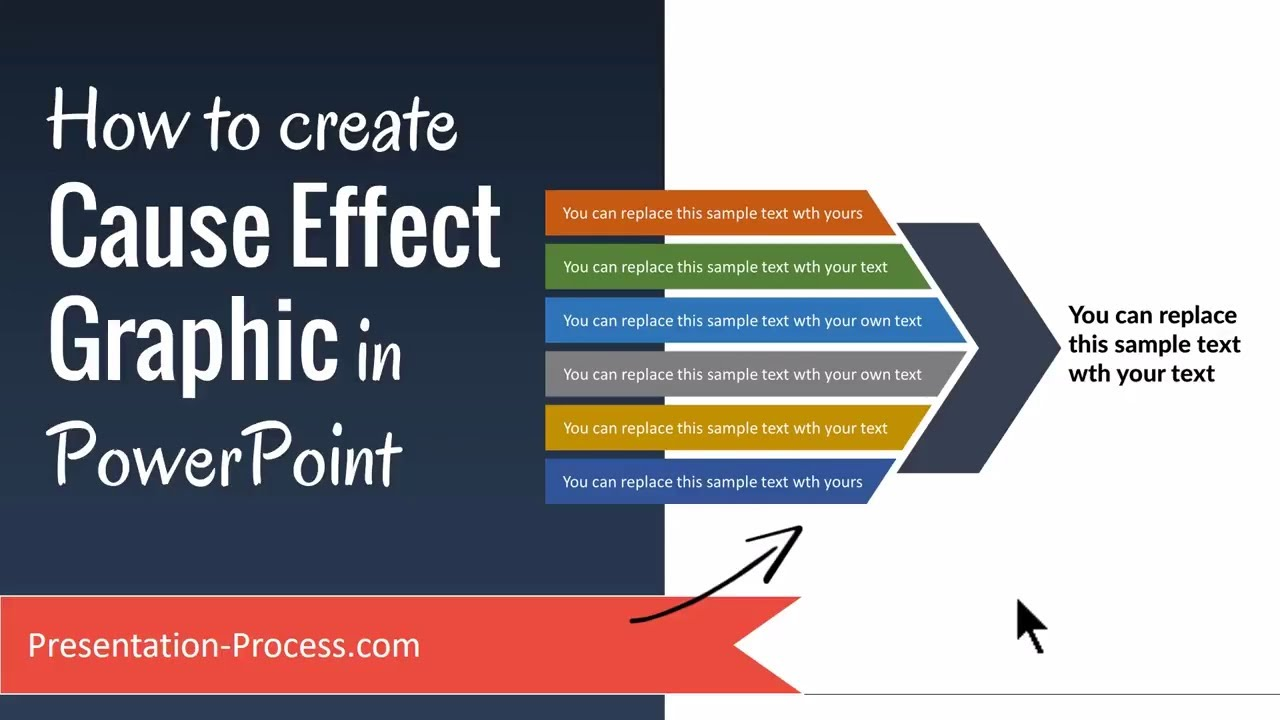 how to create cause effect graphic in powerpoint  how to create cause effect graphic in powerpoint