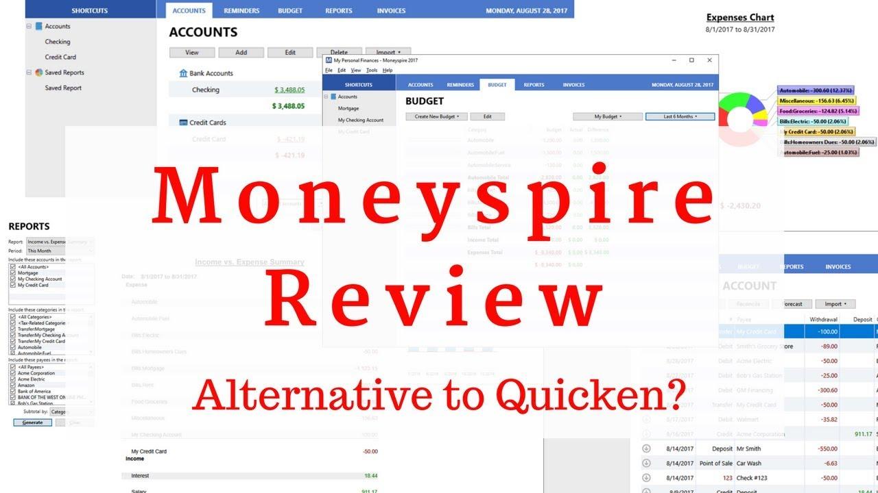 Moneyspire Review - Possible Alternative to Quicken?
