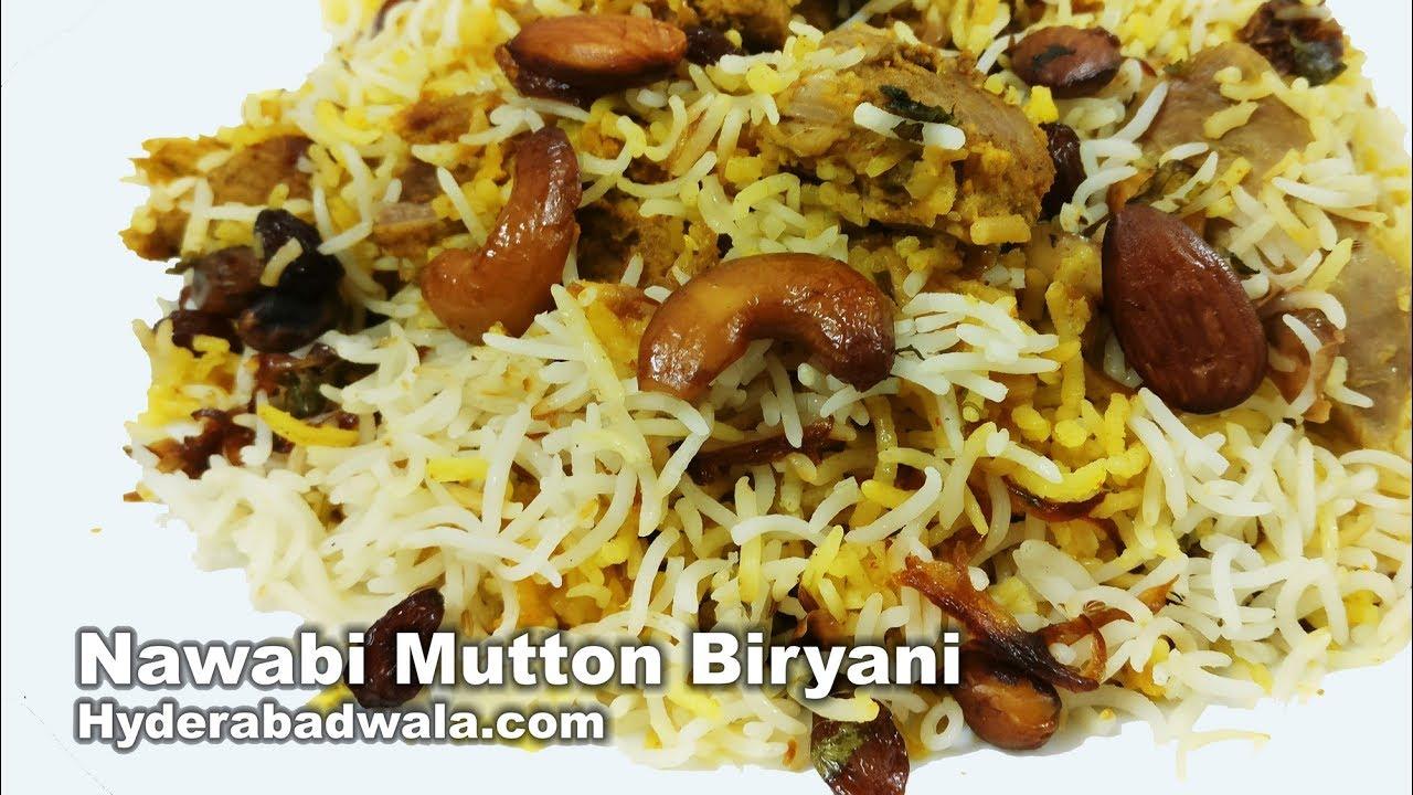 Nawabi Biryani Recipe Video How To Make Hyderabadi Nawabi Mutton