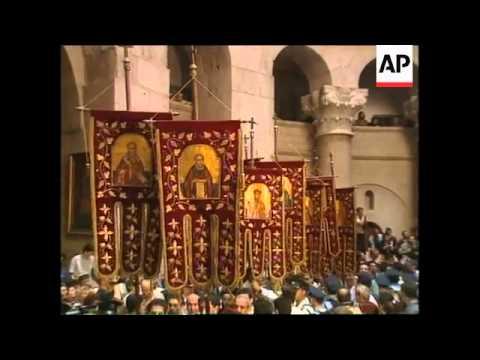 JERUSALEM: GREEK ORTHODOX EASTER CEREMONY OF HOLY FIRE