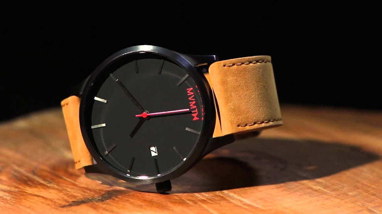 The mvmt classic blac tan leather youtube for Mvmt watches