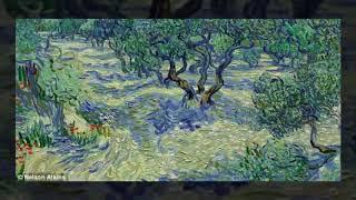 Grasshopper found embedded in Vincent Van Gogh