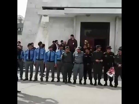 Afghan Security Officials Celebrating @Hamid Karzai Airport