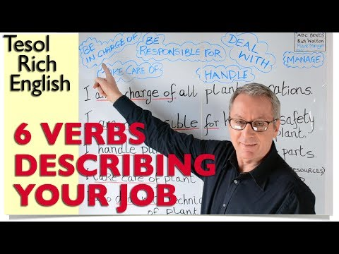 Learn English verbs for talking about your job roles - Business English