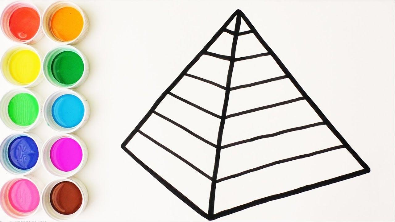 Como Dibujar Y Colorear Piramide De Arco Iris