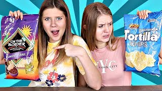Cheap vs Expensive Food Challenge   Taylor & Vanessa