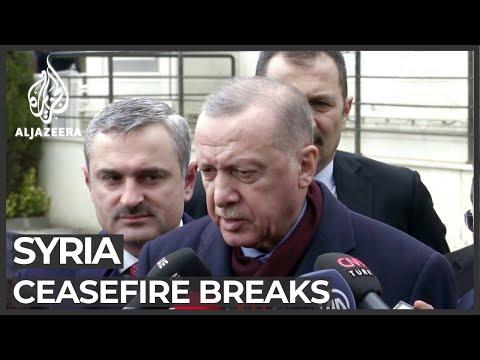 Turkey's Erdogan Accuses Syria Of Breaking Ceasefire In Idlib