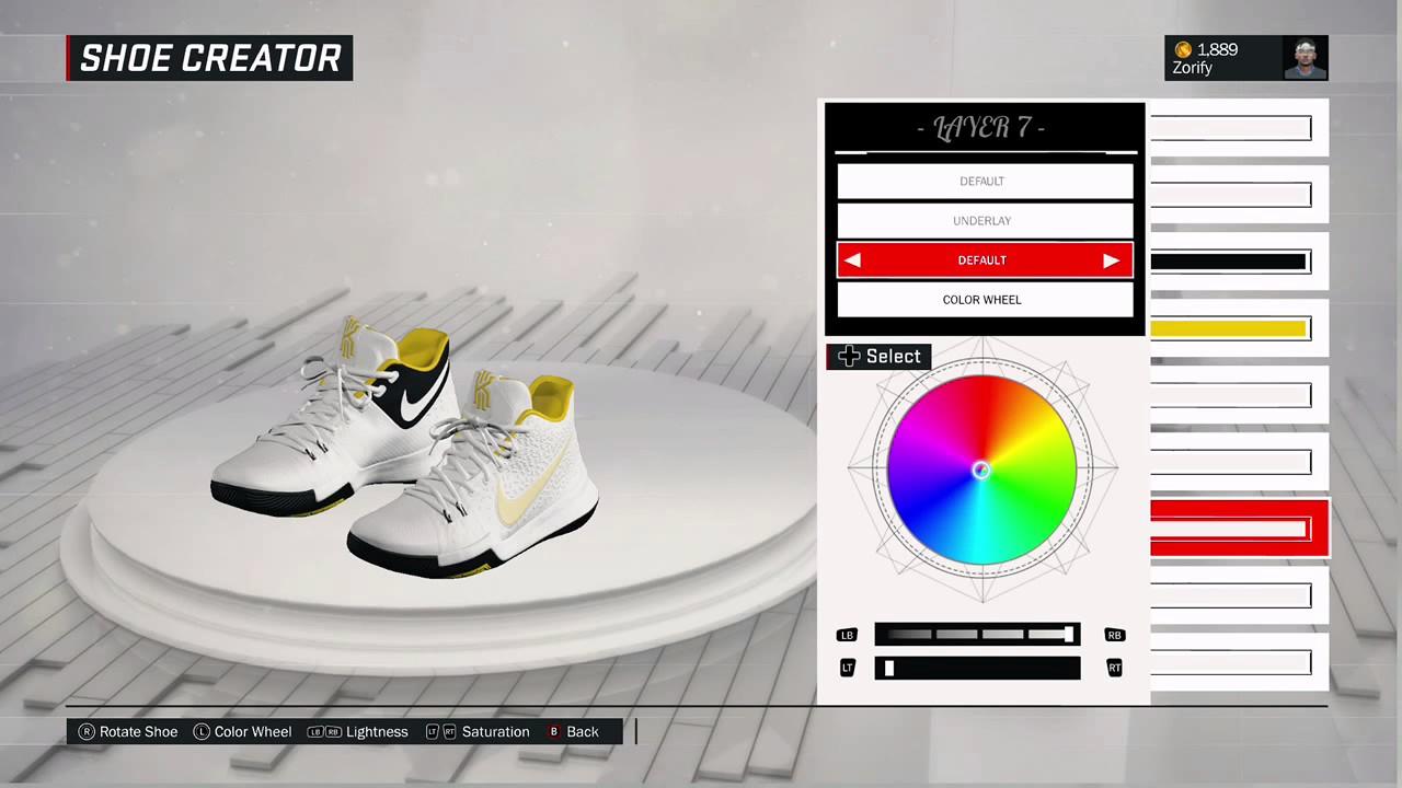 54e3a1aa877 NBA 2K17 Shoe Creator - Nike Kyrie 3