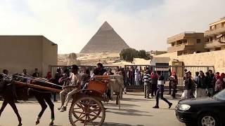 クフ王の大ピラミッド&スフィンクス前の通りの様子 エジプト旅2016