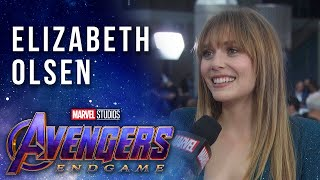 Elizabeth Olsen on Scarlet Witch and Vision LIVE at the Avengers: Endgame Premiere